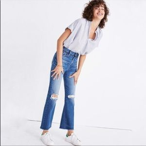 Madewell Retro Crop Bootcut High Waisted Jeans